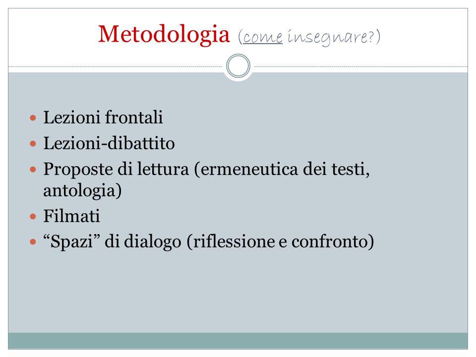 Metodologia (come insegnare )