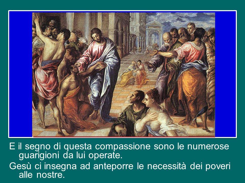 E il segno di questa compassione sono le numerose guarigioni da lui operate.