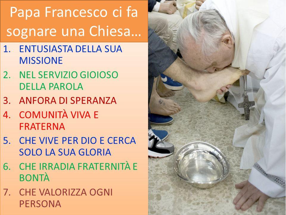 Papa Francesco ci fa sognare una Chiesa…