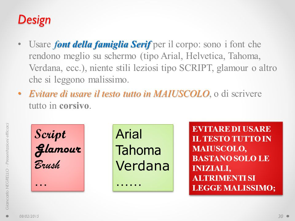 Design Script Glamour Brush … Arial Tahoma Verdana ……