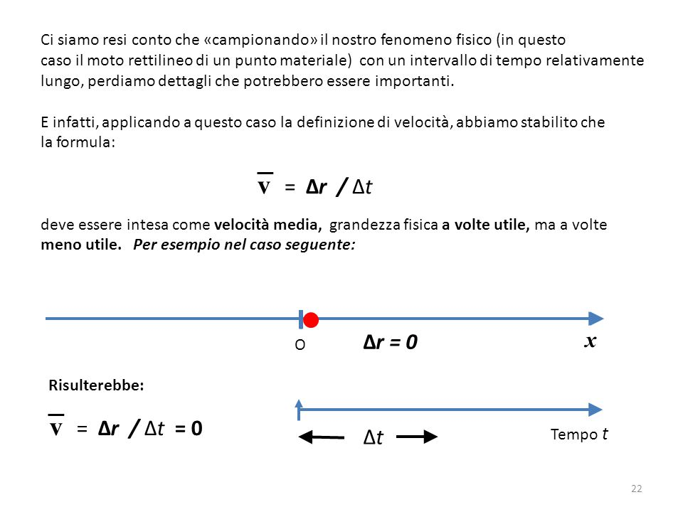 v = Δr / Δt v = Δr / Δt = 0 x Δr = 0 Δt
