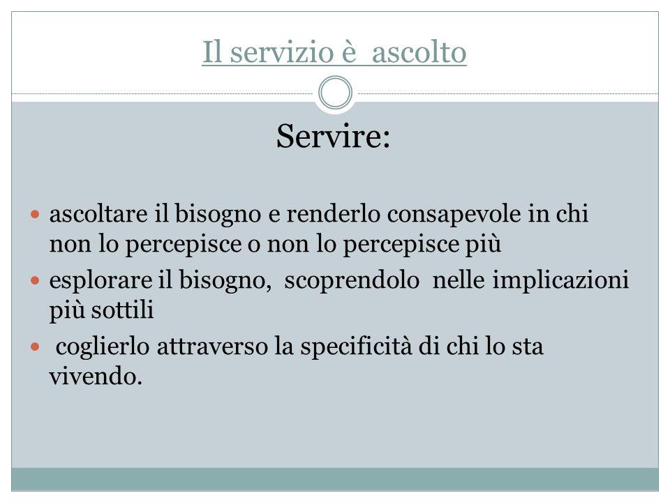 Servire: Il servizio è ascolto