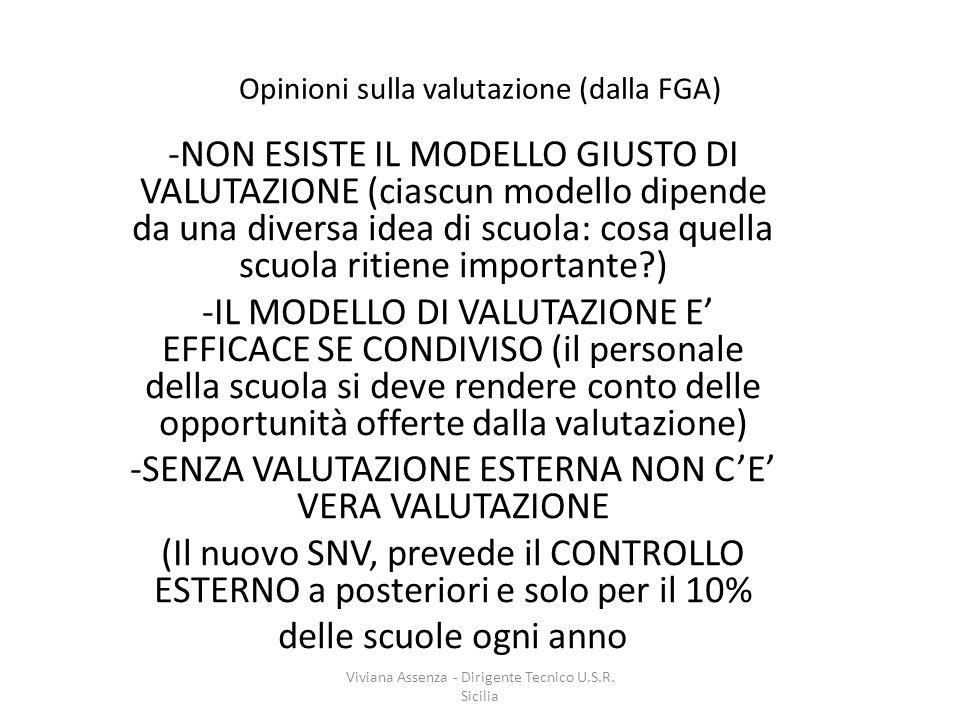 Opinioni sulla valutazione (dalla FGA)