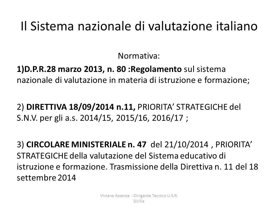 Il Sistema nazionale di valutazione italiano