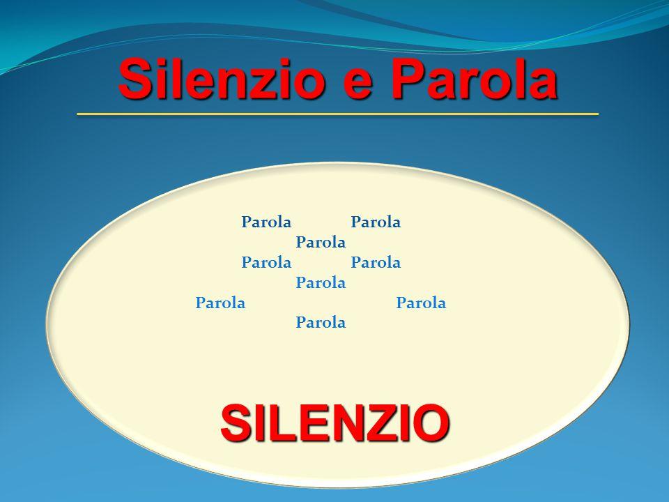 Silenzio e Parola SILENZIO Parola Parola Parola Parola Parola