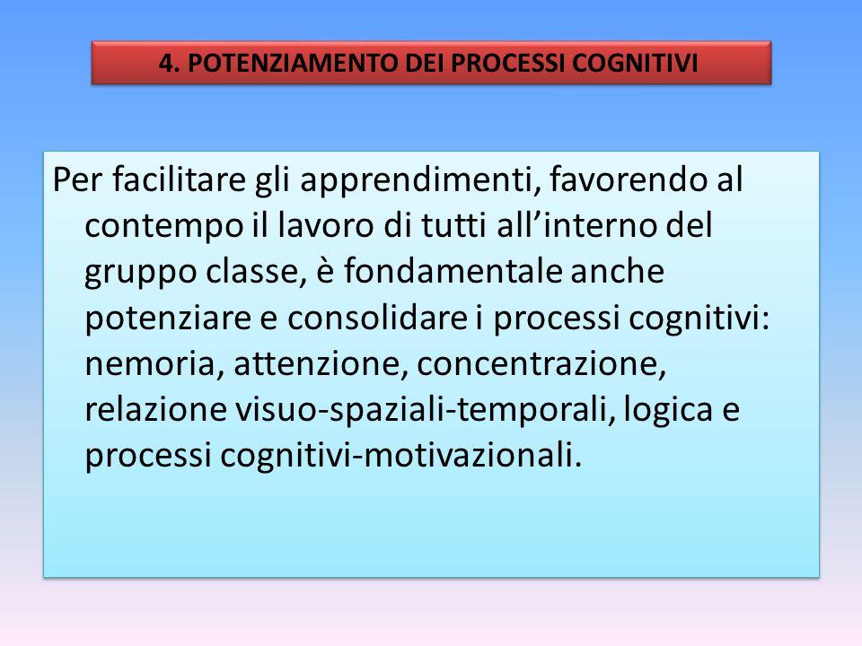 4. POTENZIAMENTO DEI PROCESSI COGNITIVI