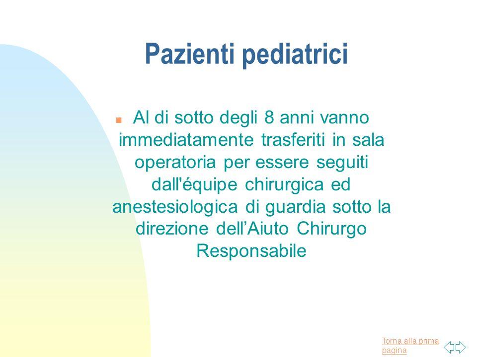 Pazienti pediatrici
