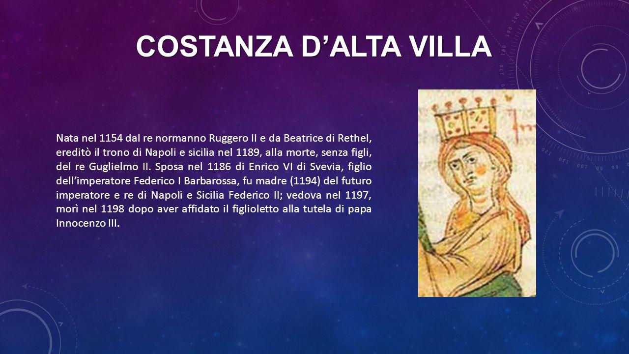 COSTANZA D'ALTA VILLA