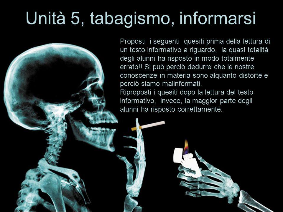 Unità 5, tabagismo, informarsi