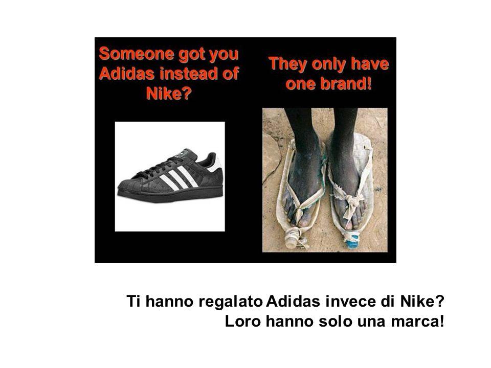 Ti hanno regalato Adidas invece di Nike
