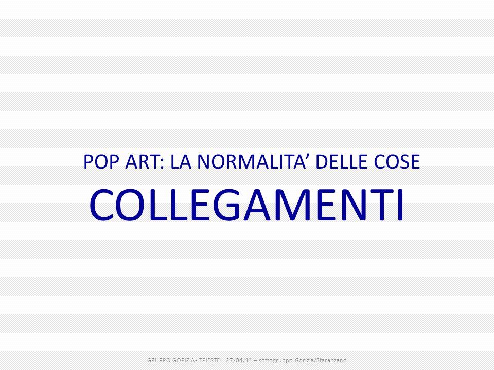 POP ART: LA NORMALITA' DELLE COSE COLLEGAMENTI