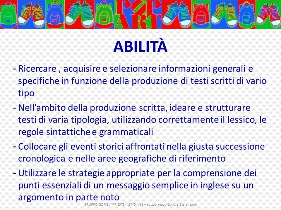GRUPPO GORIZIA-TRIESTE 27/04/11 – sottogruppo Gorizia/Staranzano