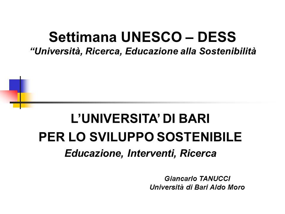Settimana UNESCO – DESS