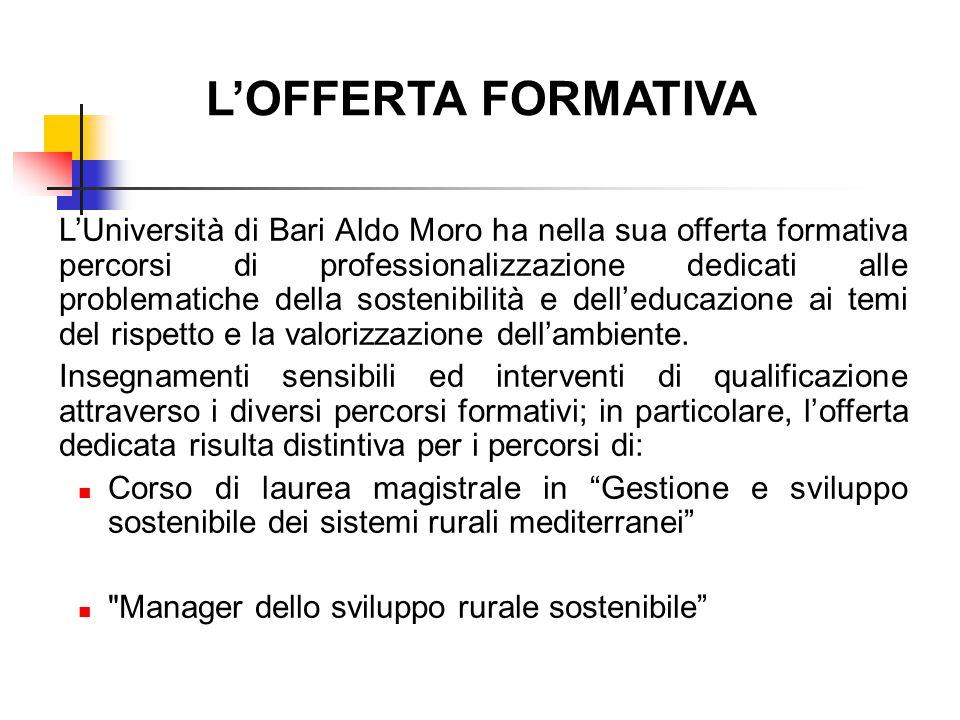 L'OFFERTA FORMATIVA
