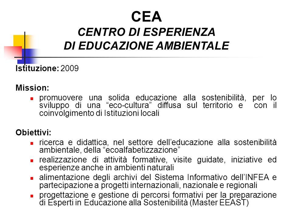 CEA CENTRO DI ESPERIENZA DI EDUCAZIONE AMBIENTALE