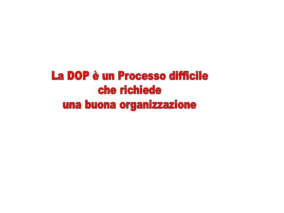 La DOP è un Processo difficile che richiede una buona organizzazione