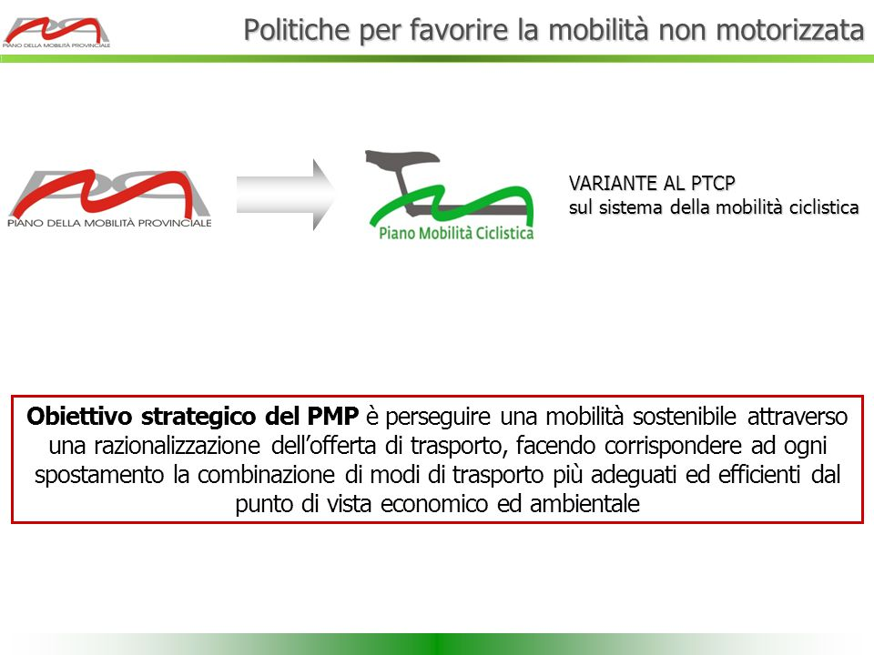 Politiche per favorire la mobilità non motorizzata