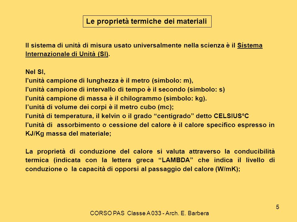 CORSO PAS Classe A 033 - Arch. E. Barbera