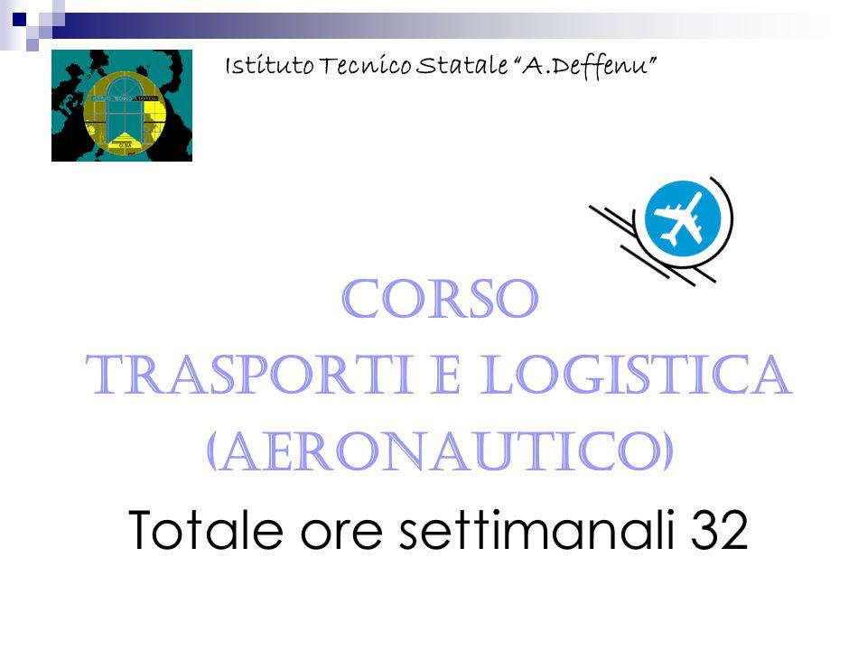CORSO Trasporti e Logistica (Aeronautico) Totale ore settimanali 32