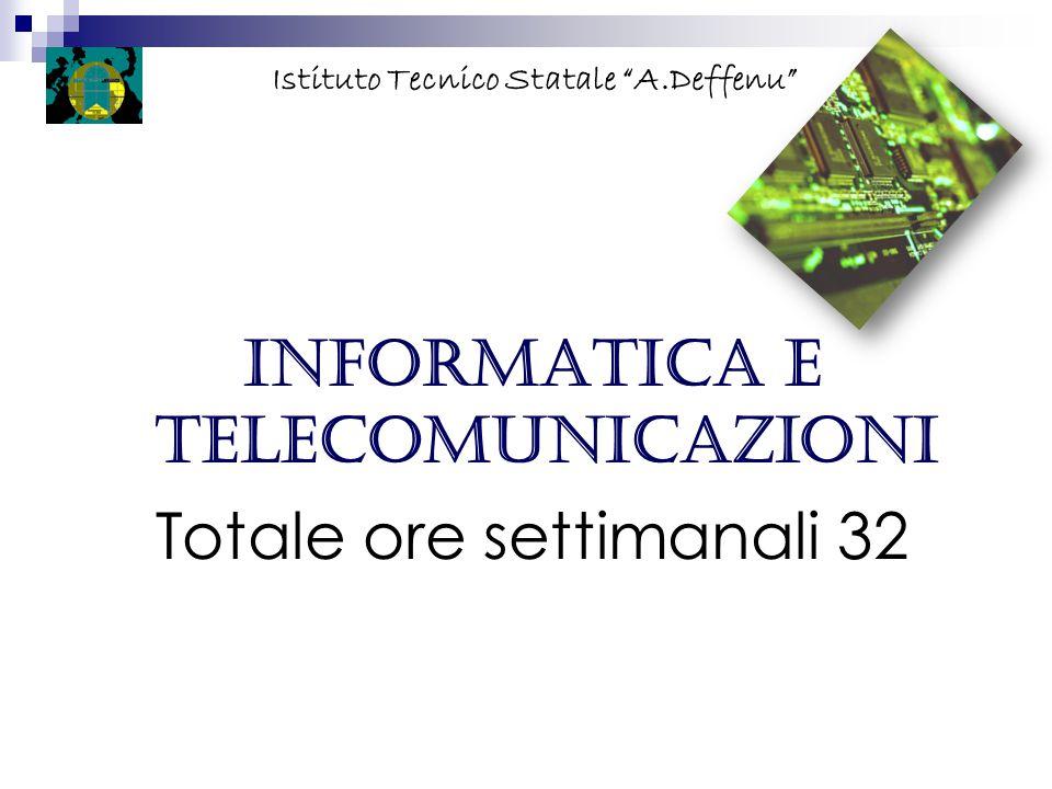 Informatica e telecomunicazioni Totale ore settimanali 32