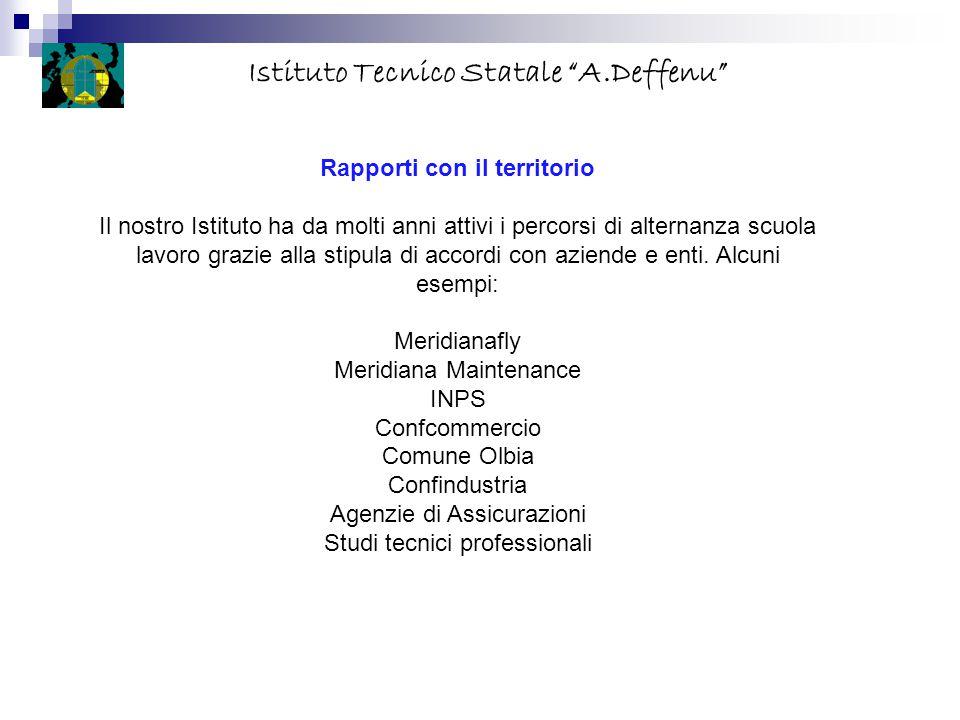 Istituto Tecnico Statale A.Deffenu Rapporti con il territorio