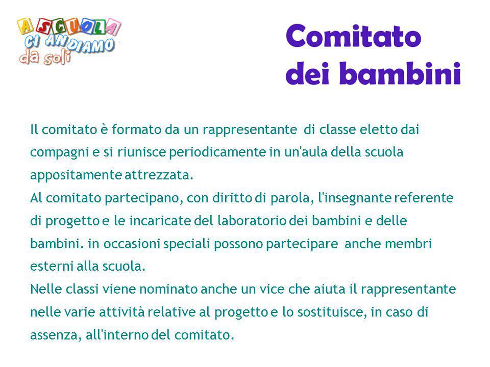 Il comitato è formato da un rappresentante di classe eletto dai compagni e si riunisce periodicamente in un aula della scuola appositamente attrezzata.