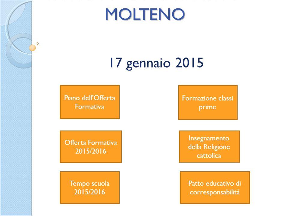 ISTITUTO COMPRENSIVO MOLTENO 17 gennaio 2015