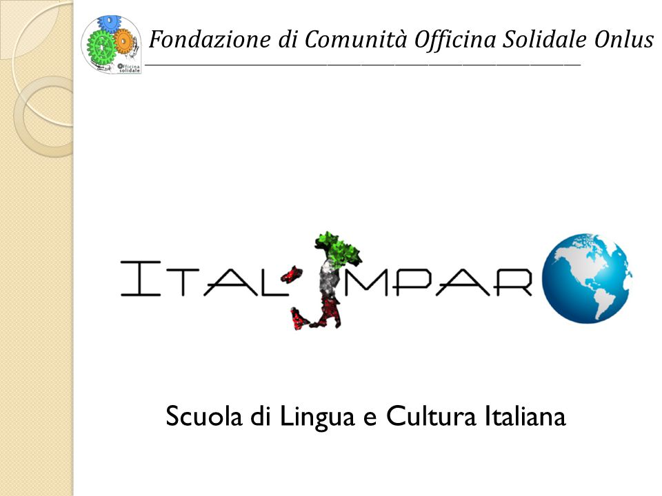Scuola di Lingua e Cultura Italiana