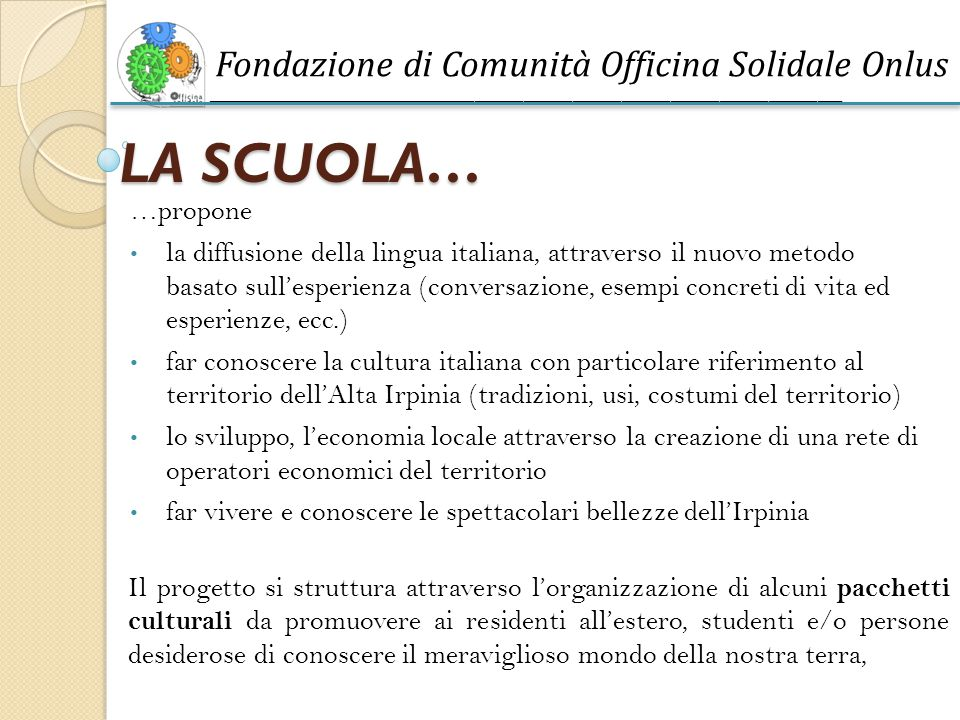 Fondazione di Comunità Officina Solidale Onlus