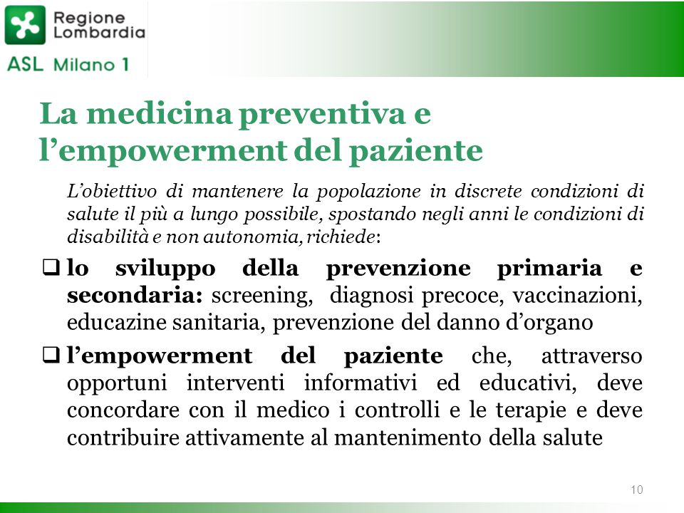 La medicina preventiva e l'empowerment del paziente