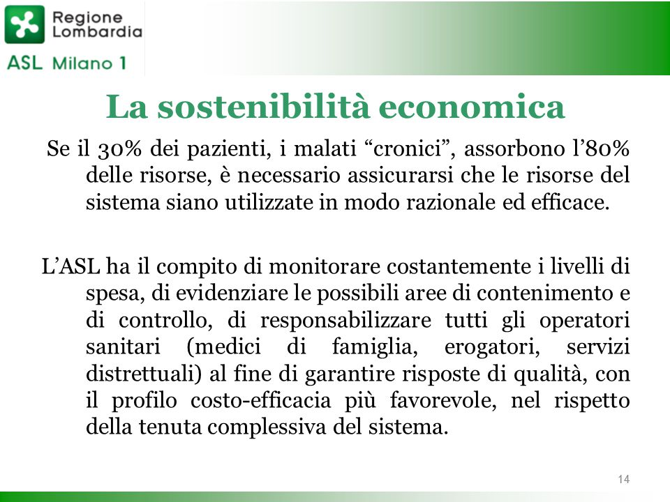 La sostenibilità economica