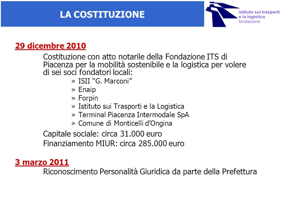 Capitale sociale: circa 31.000 euro