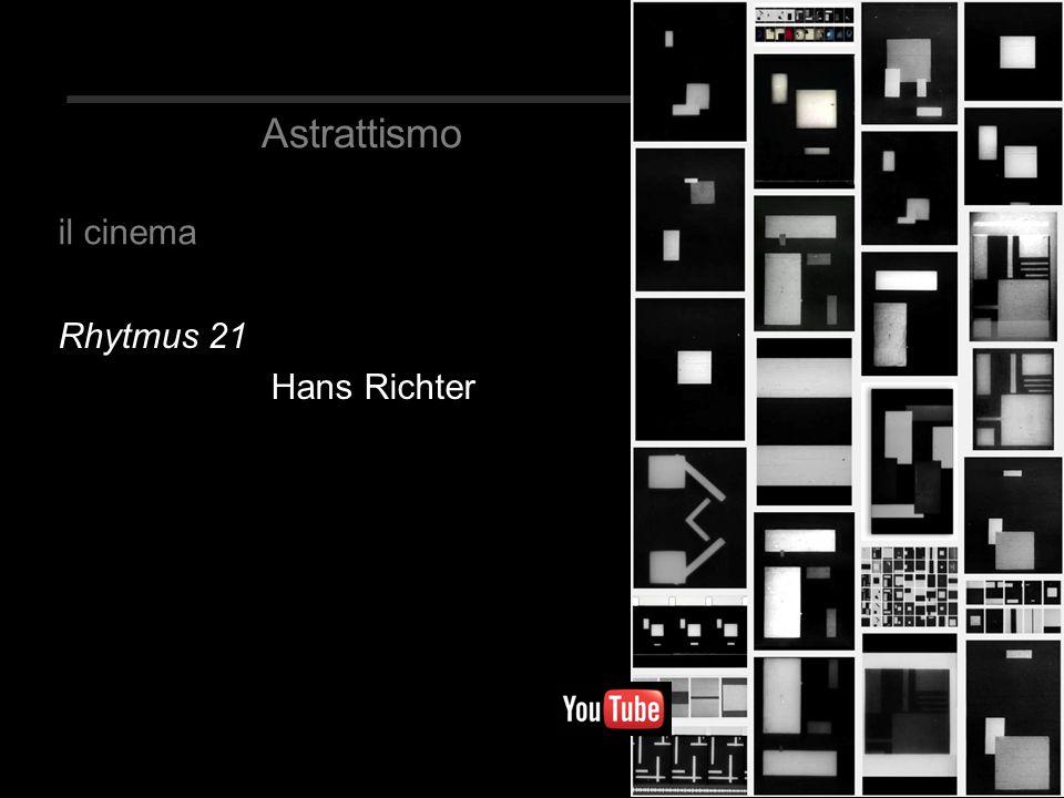 Astrattismo il cinema Rhytmus 21 Hans Richter