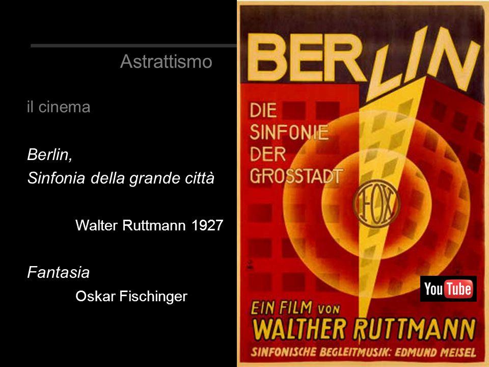 Astrattismo il cinema Berlin, Sinfonia della grande città