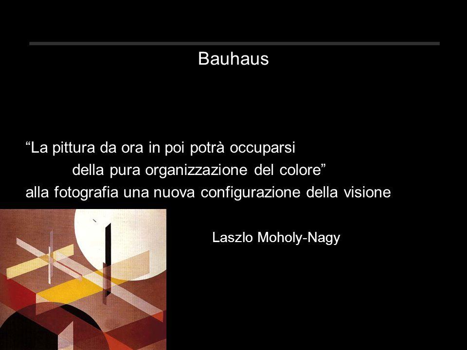 Bauhaus La pittura da ora in poi potrà occuparsi