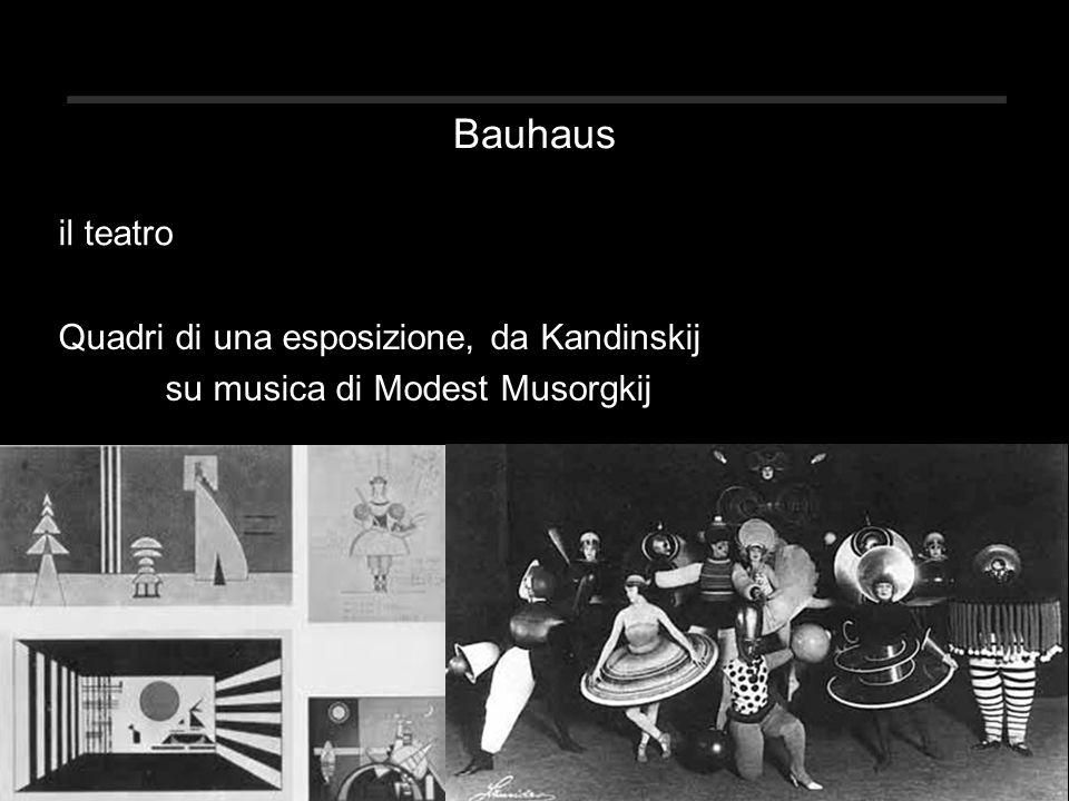 Bauhaus il teatro Quadri di una esposizione, da Kandinskij