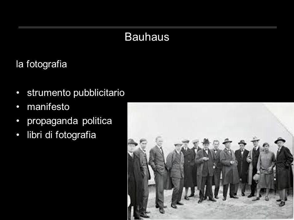 Bauhaus la fotografia strumento pubblicitario manifesto