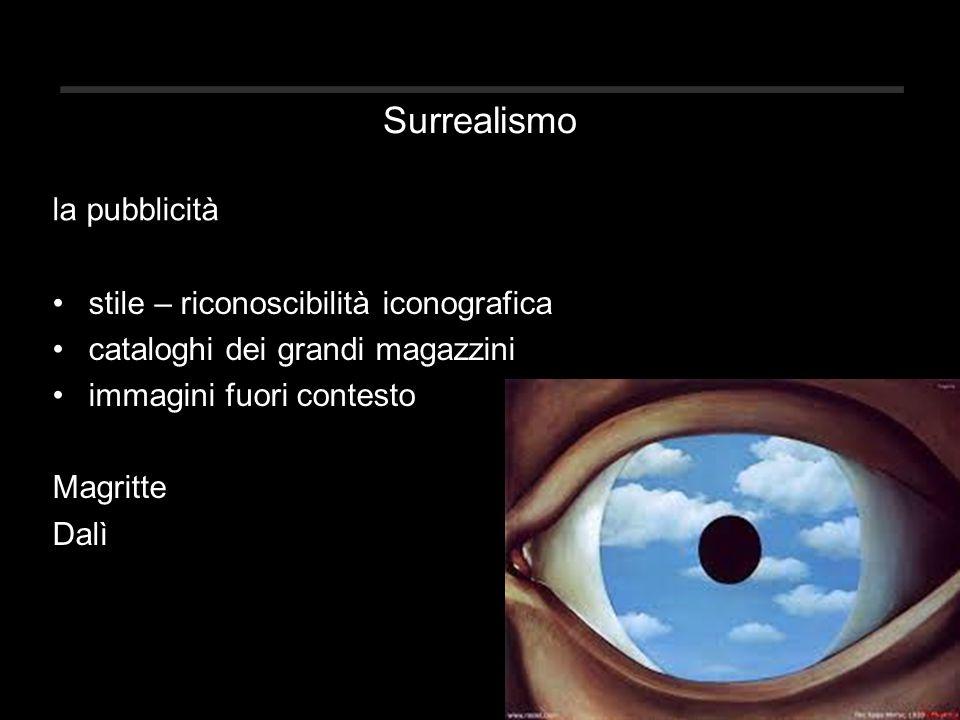 Surrealismo la pubblicità stile – riconoscibilità iconografica
