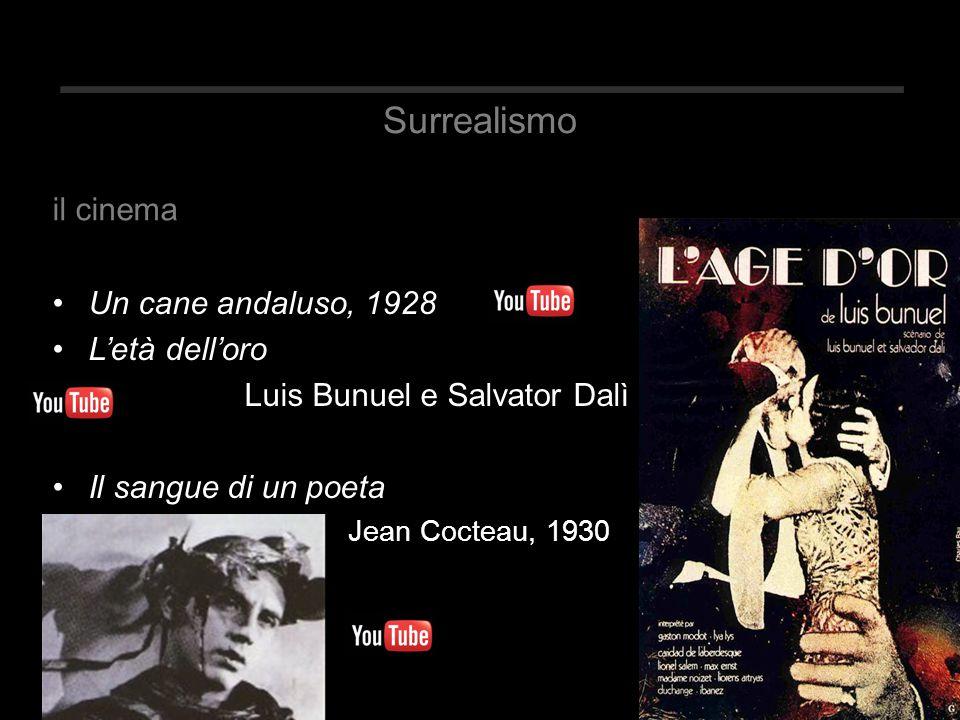 Surrealismo il cinema Un cane andaluso, 1928 L'età dell'oro