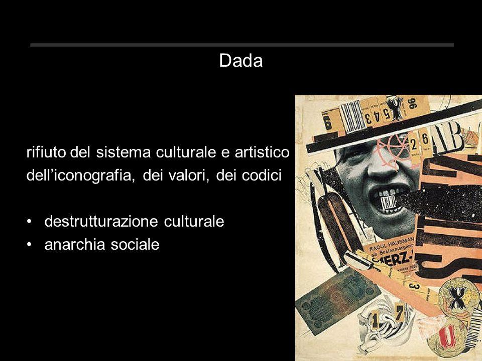 Dada rifiuto del sistema culturale e artistico