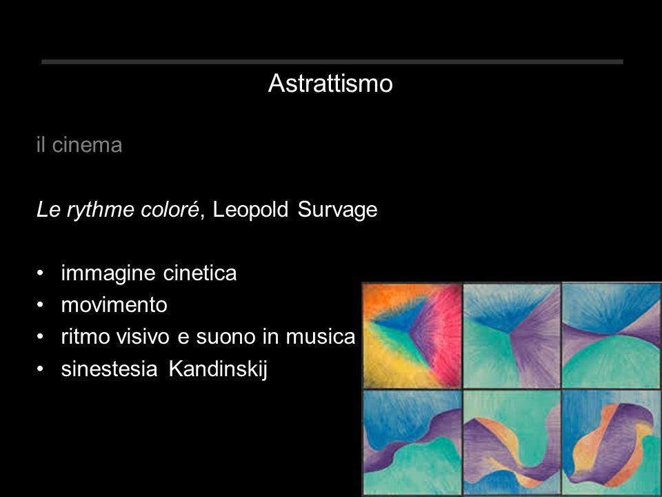Astrattismo il cinema Le rythme coloré, Leopold Survage