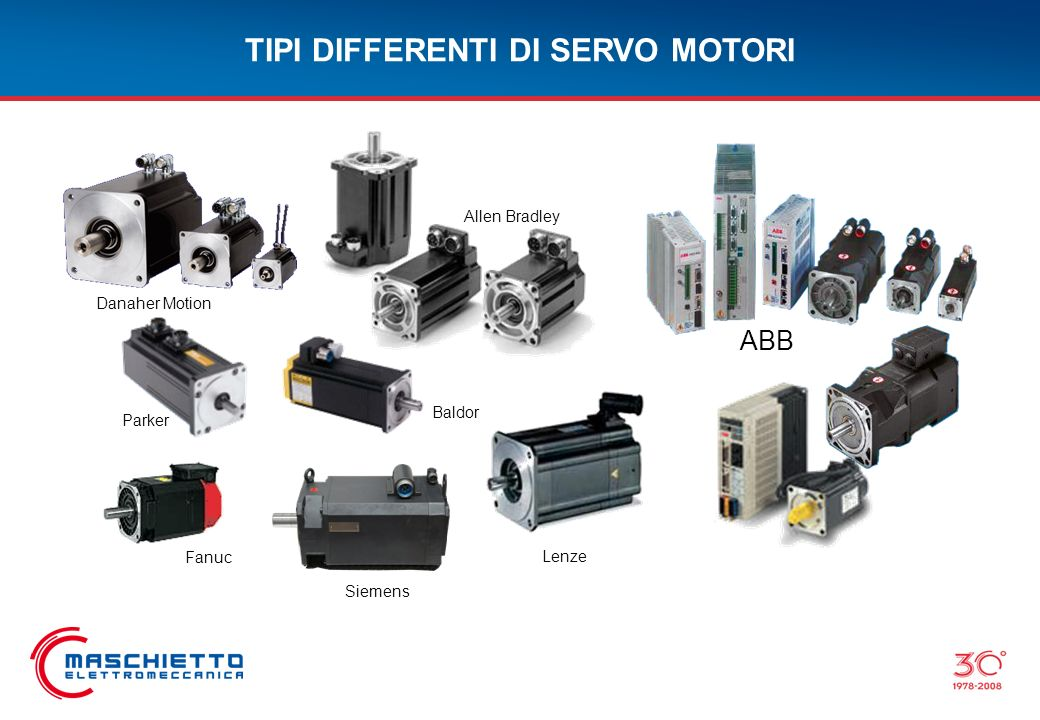 TIPI DIFFERENTI DI SERVO MOTORI