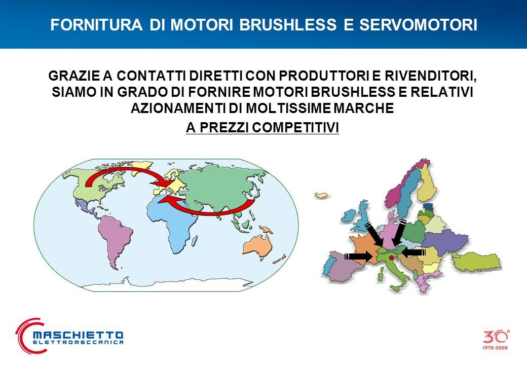 FORNITURA DI MOTORI BRUSHLESS E SERVOMOTORI