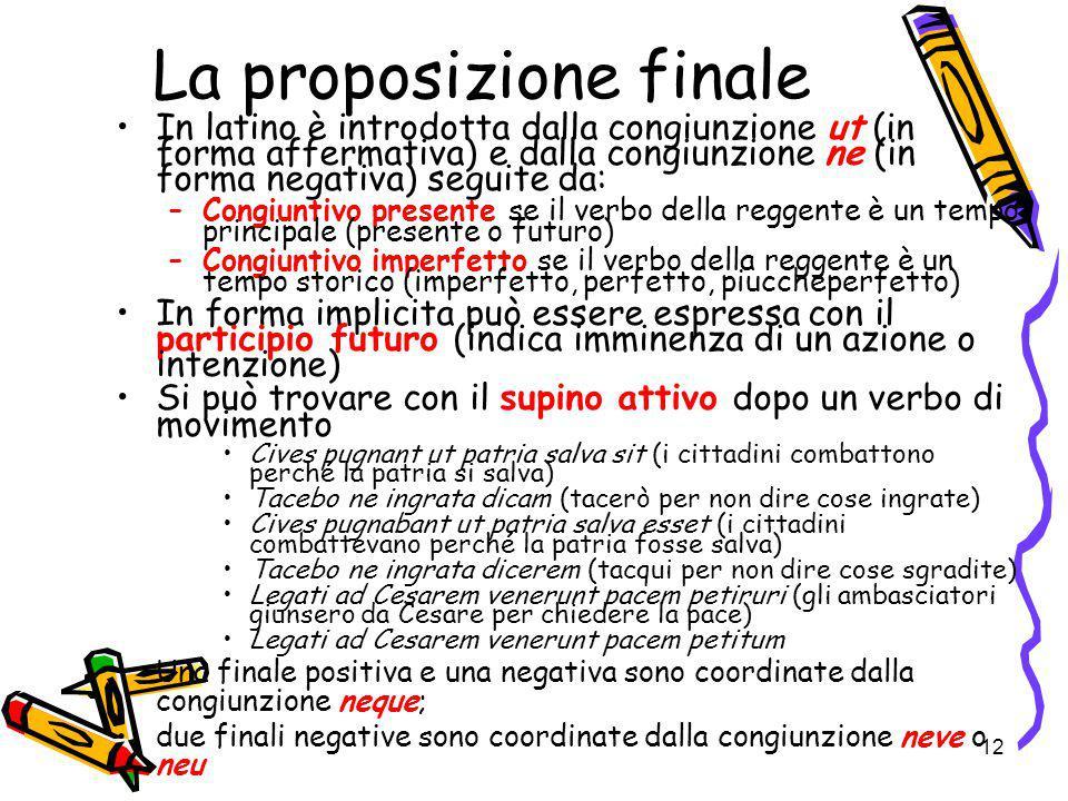 La proposizione finale