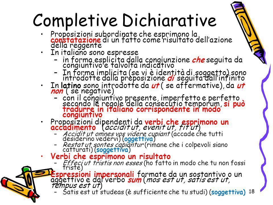 Completive Dichiarative