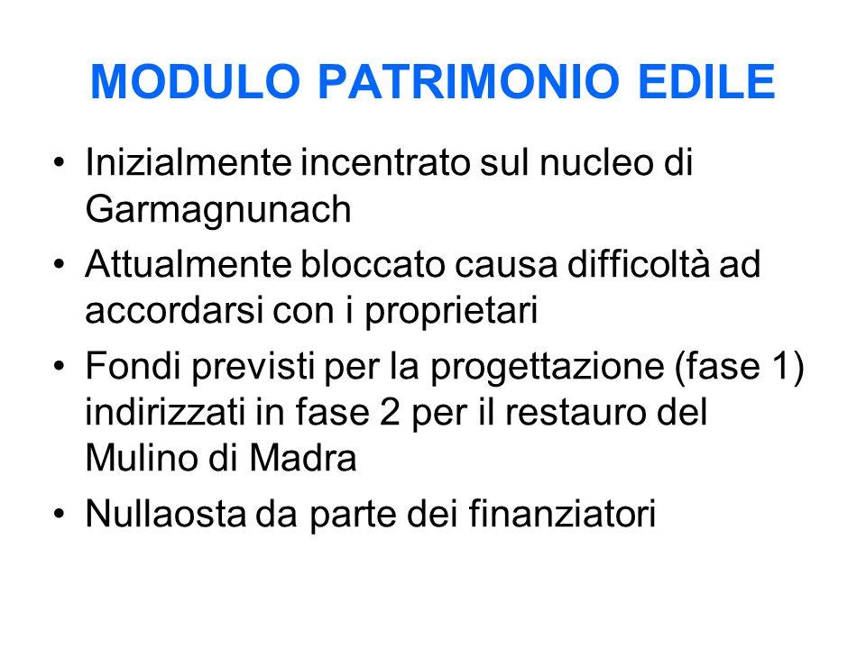 MODULO PATRIMONIO EDILE