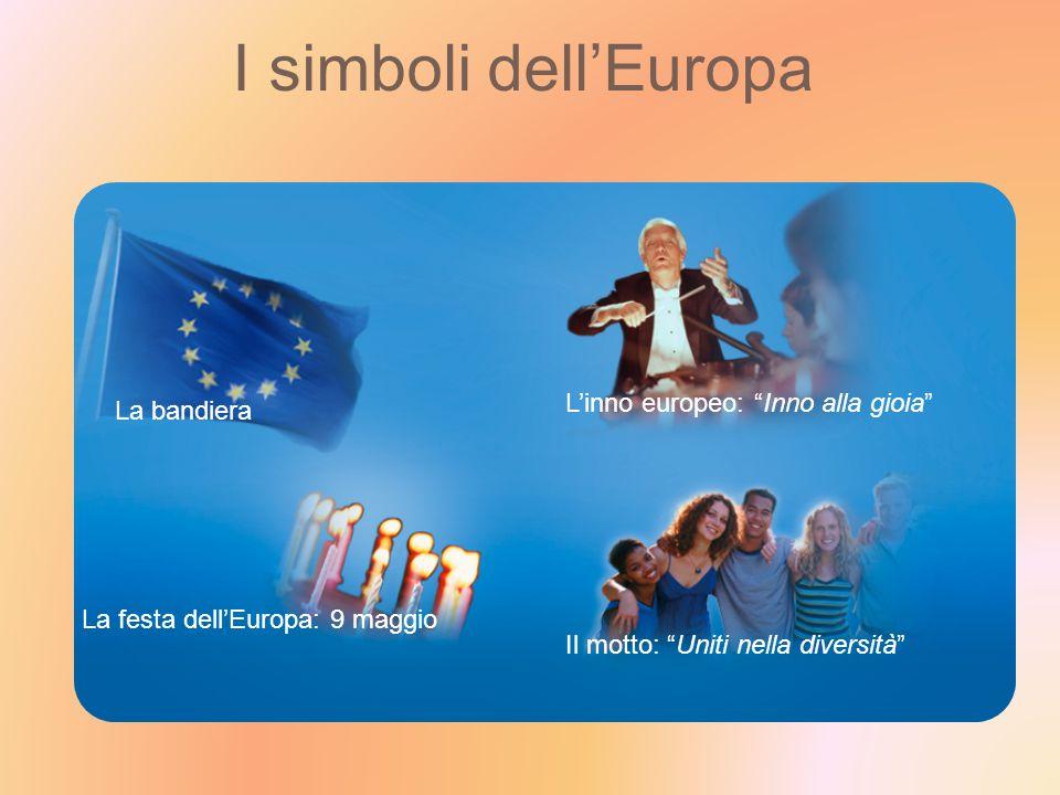I simboli dell'Europa L'inno europeo: Inno alla gioia La bandiera