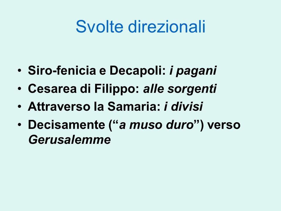 Svolte direzionali Siro-fenicia e Decapoli: i pagani