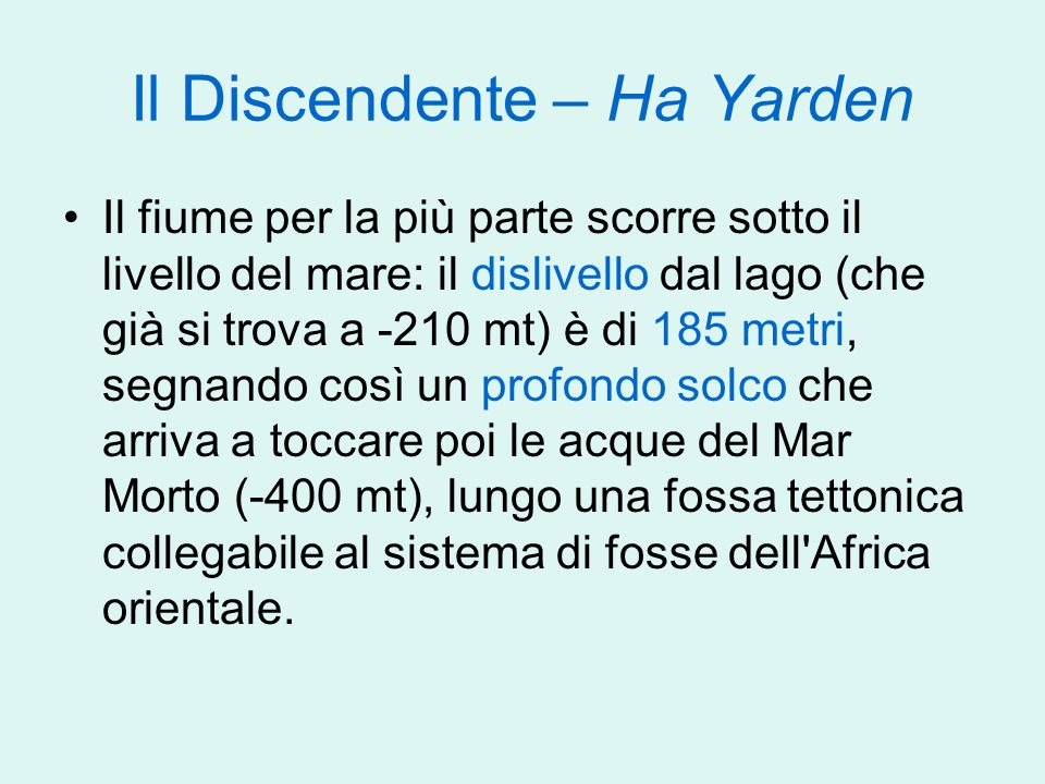 Il Discendente – Ha Yarden