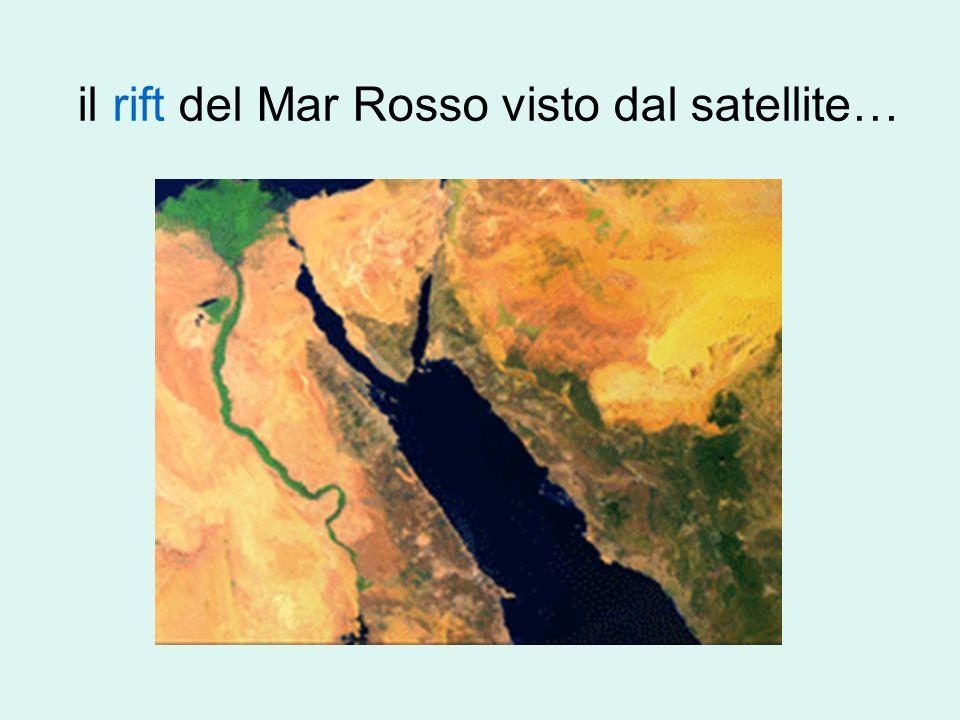 il rift del Mar Rosso visto dal satellite…